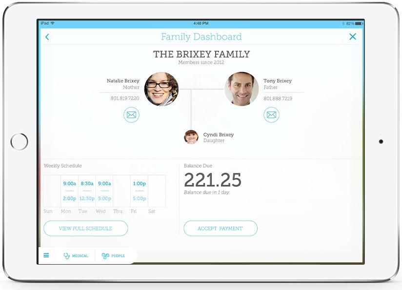Family dashboard