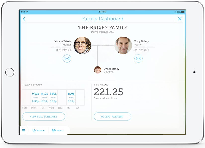 SmartCare - Family dashboard