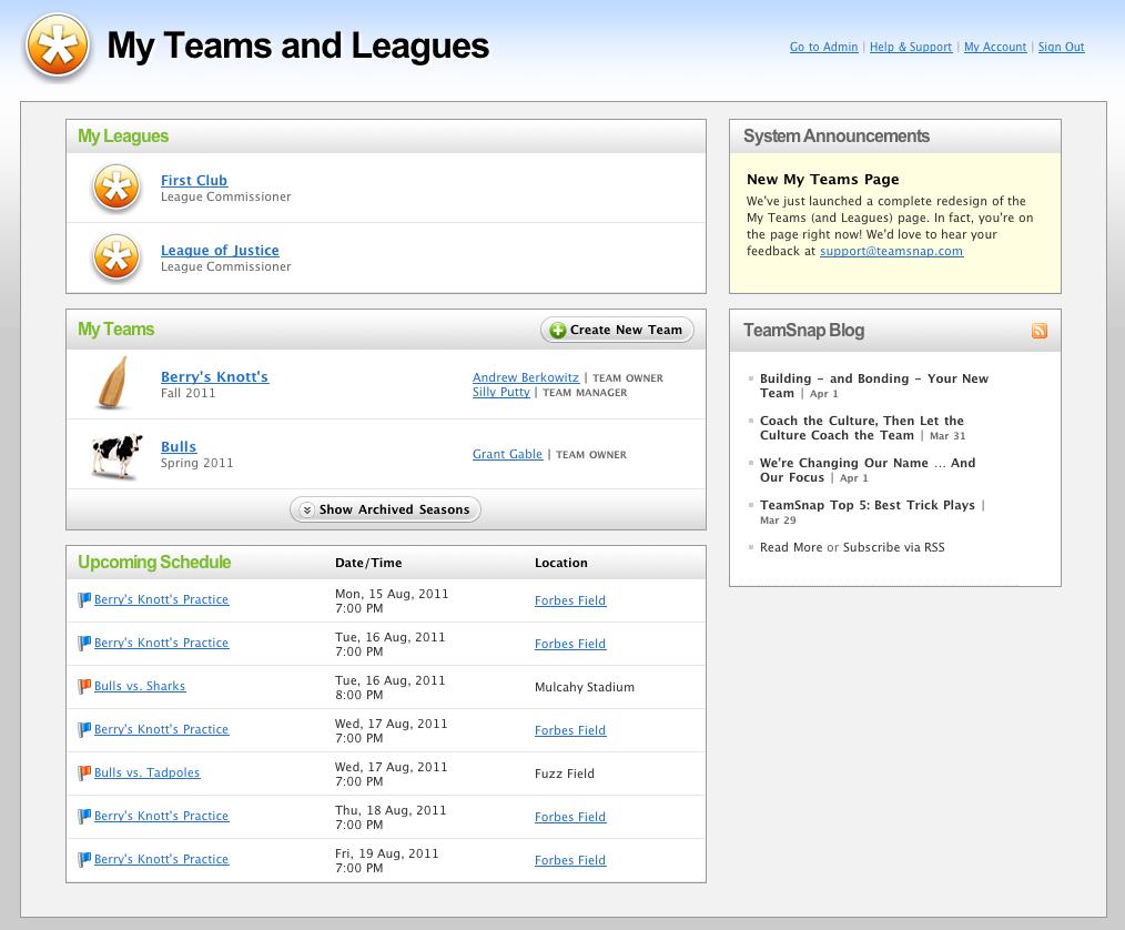View teams