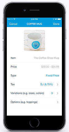 PayPal Here - Inventory management