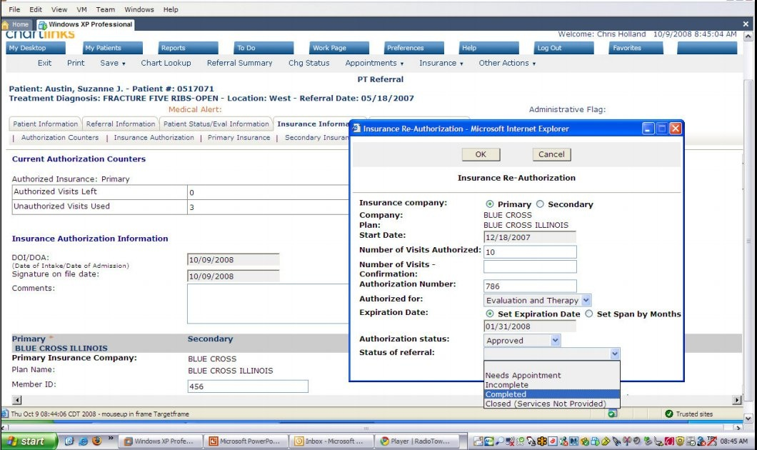Insurance ReAuthorization