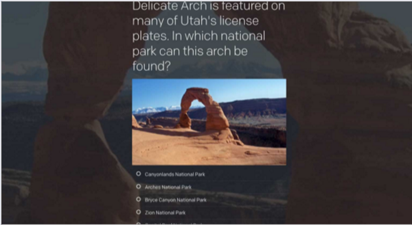 Embed quizzes in websites