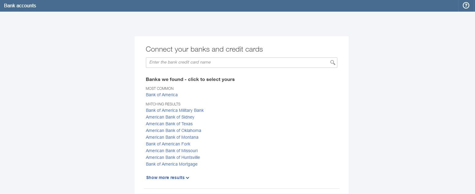 Connect bank accounts