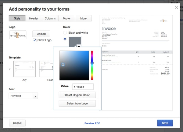 Customize forms