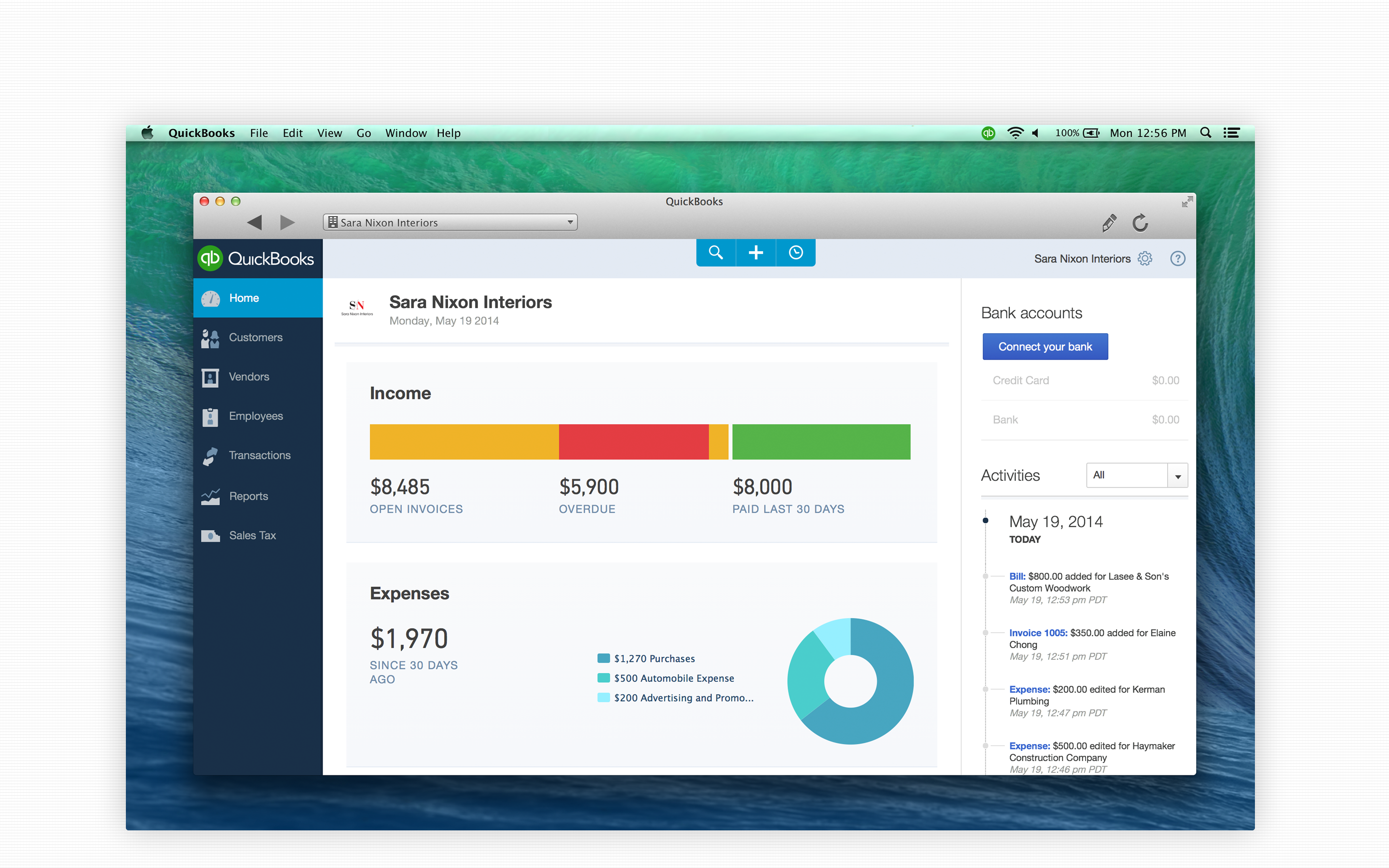 QuickBooks for Mac - QuickBooks for Mac - Home