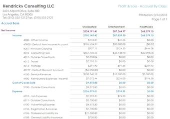 Generate financial statements
