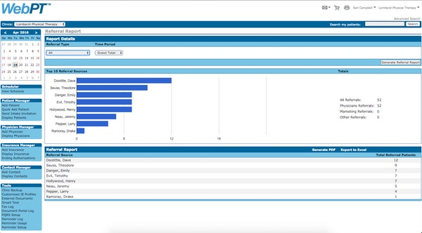 Physician Referral Tracking Report