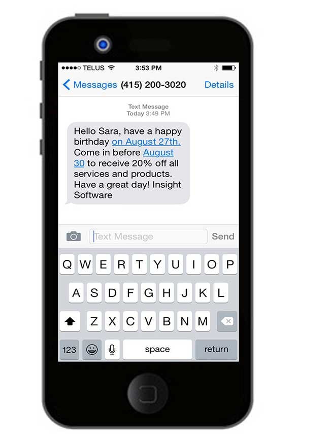 Automated text messages