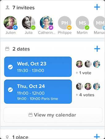 Schedule meetings