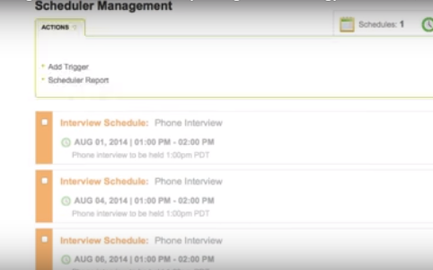 Scheduler management