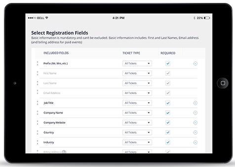 Select Registrations Bizzabo
