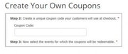 Coupon creation