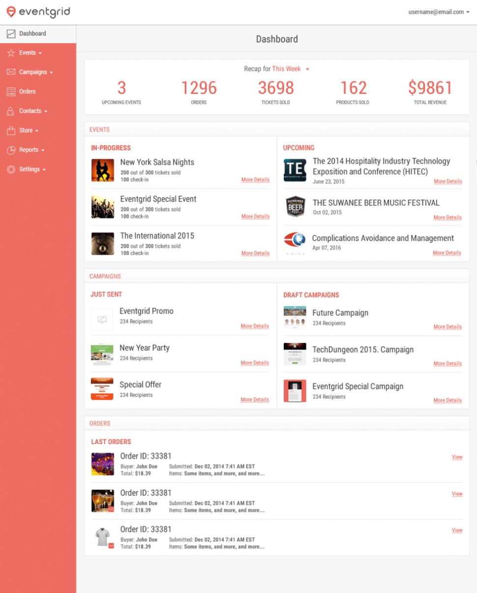 Eventgrid - Dashboard