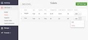Eventgrid - Multiple ticket types