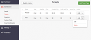 Multiple ticket types