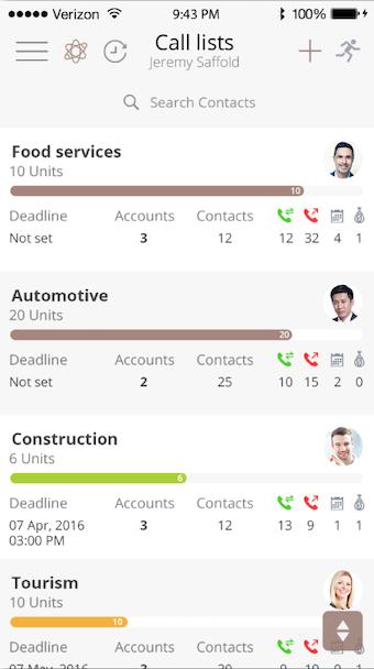 Mobile call list