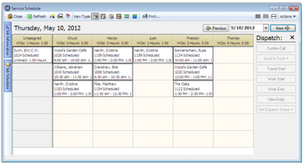 Service scheduling and dispatch
