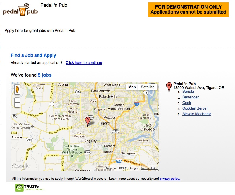 Customized Company Jobs Site