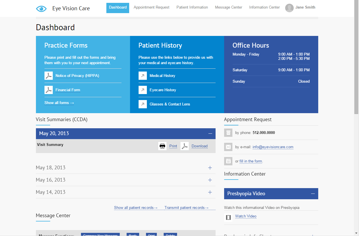 Uprise - Custom patient portal