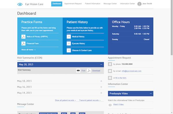 Custom patient portal
