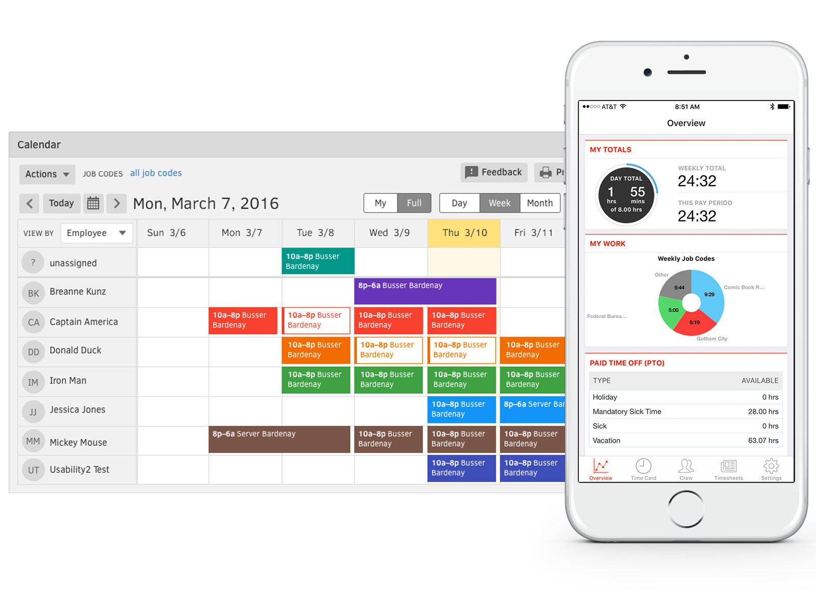 TSheets Time Tracking & Scheduling - Calendar