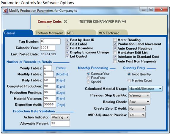 Parameter Controls