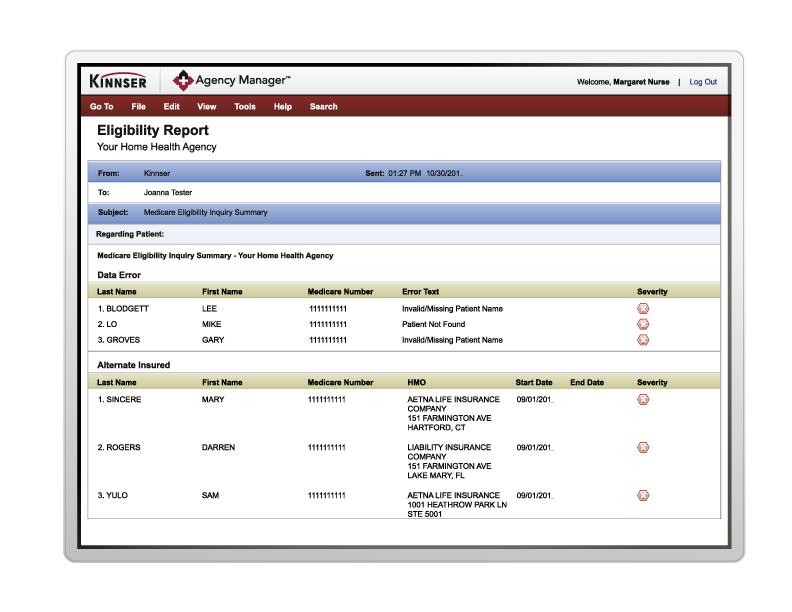 Automatic Medicare eligibility checks