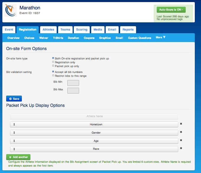 On-site registration