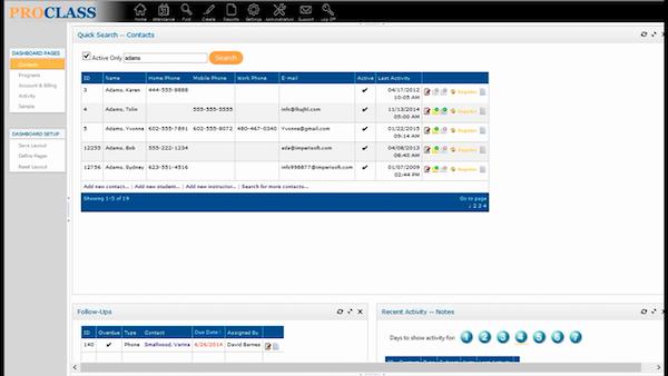 ProClass homescreen screenshot