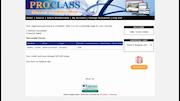 ProClass online registration screenshot