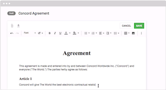 Create contracts