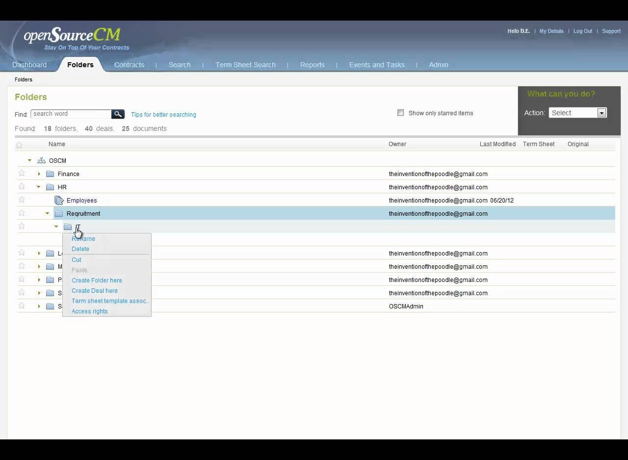 Folder management