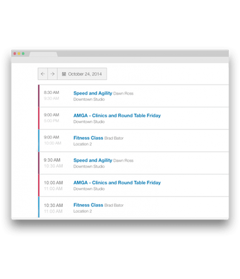 Embedded schedules