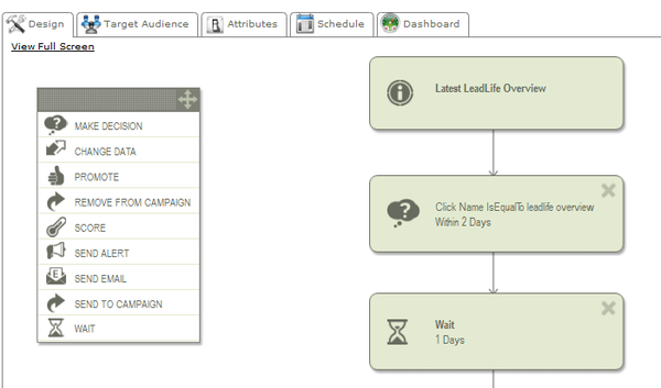 Intuitive Campaign Builder