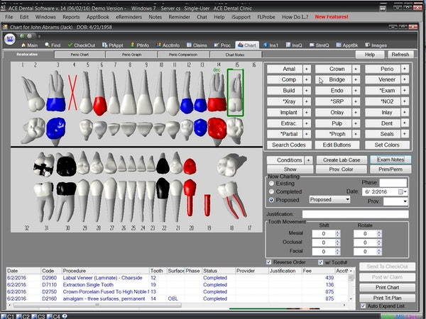 3D clinical charting and auto-note