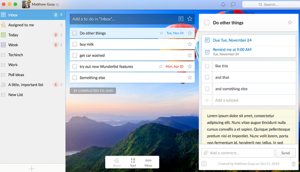 Wunderlist Software - 2019 Reviews, Pricing & Demo