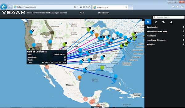 Supplier Disaster Assessment Screen