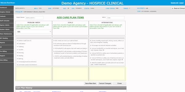 Create care plans