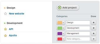 Categorize projects