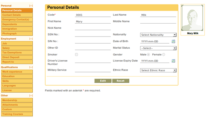 Personal Information Module
