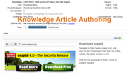 Knowledge article authoring
