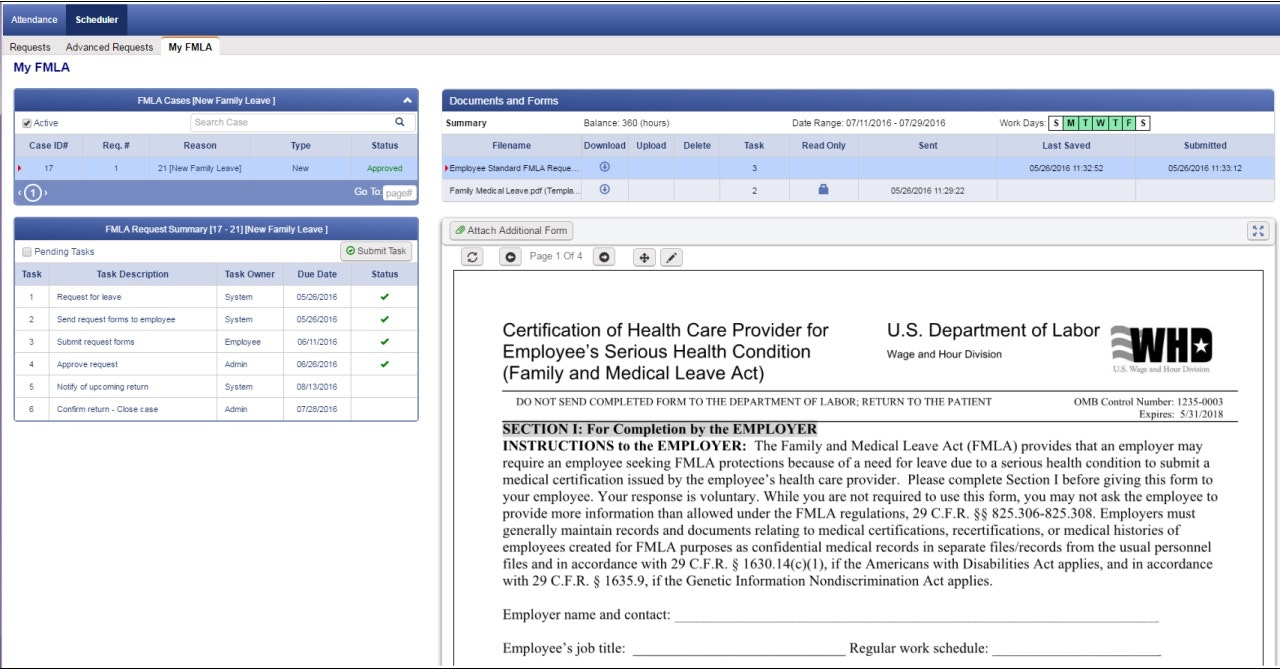 FMLA & intermittent-document manager