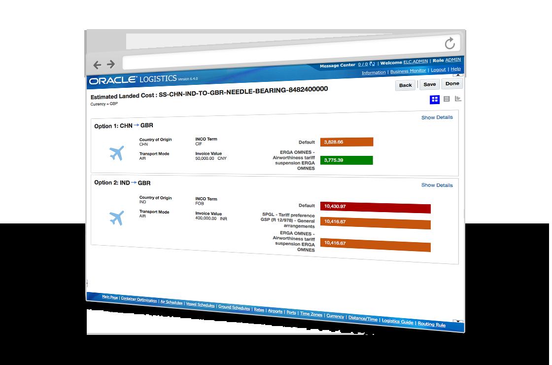 Oracle SCM Cloud - Landed cost