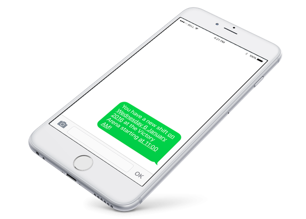 Automatic SMS alert