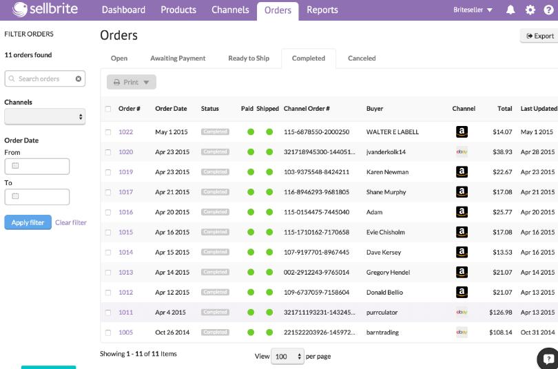 Order management