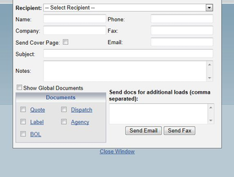 Fax or email documents