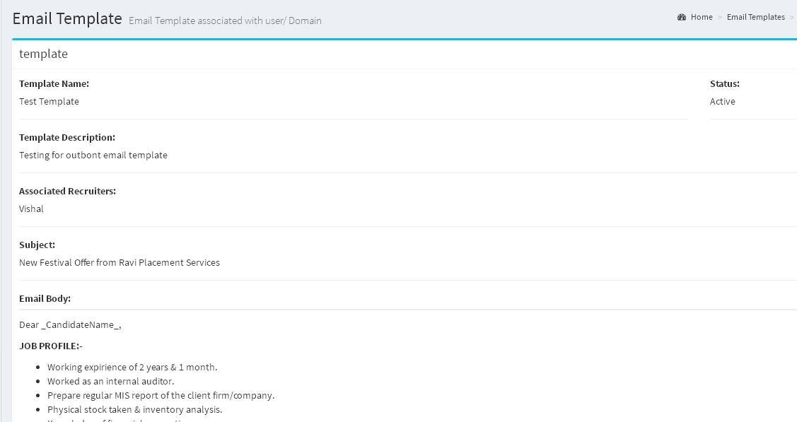 Bulk email templates