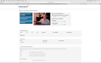 Share interview screen