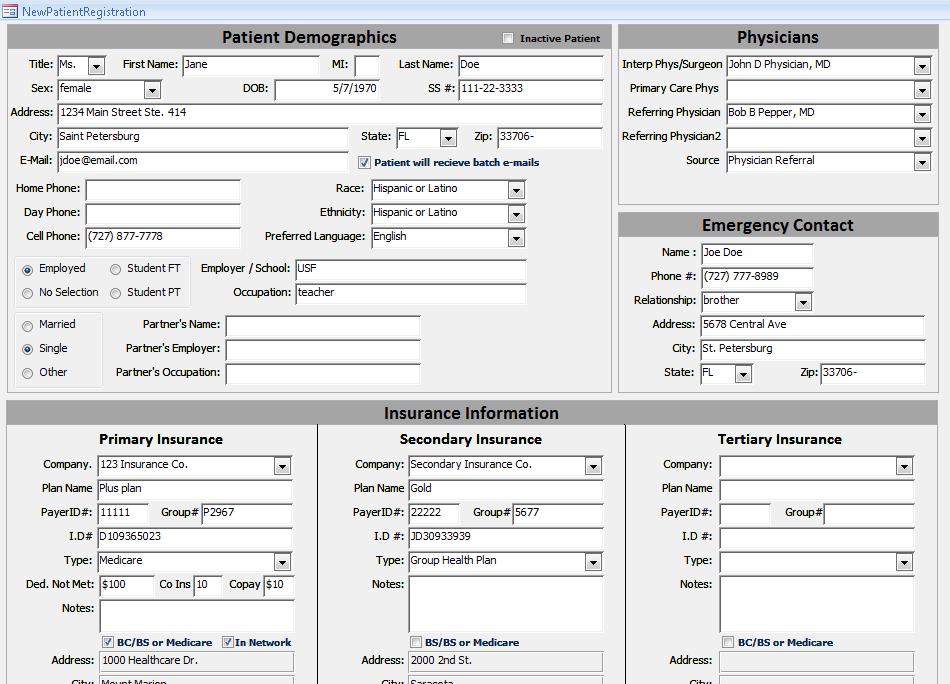 SonoSoft - Intake Form