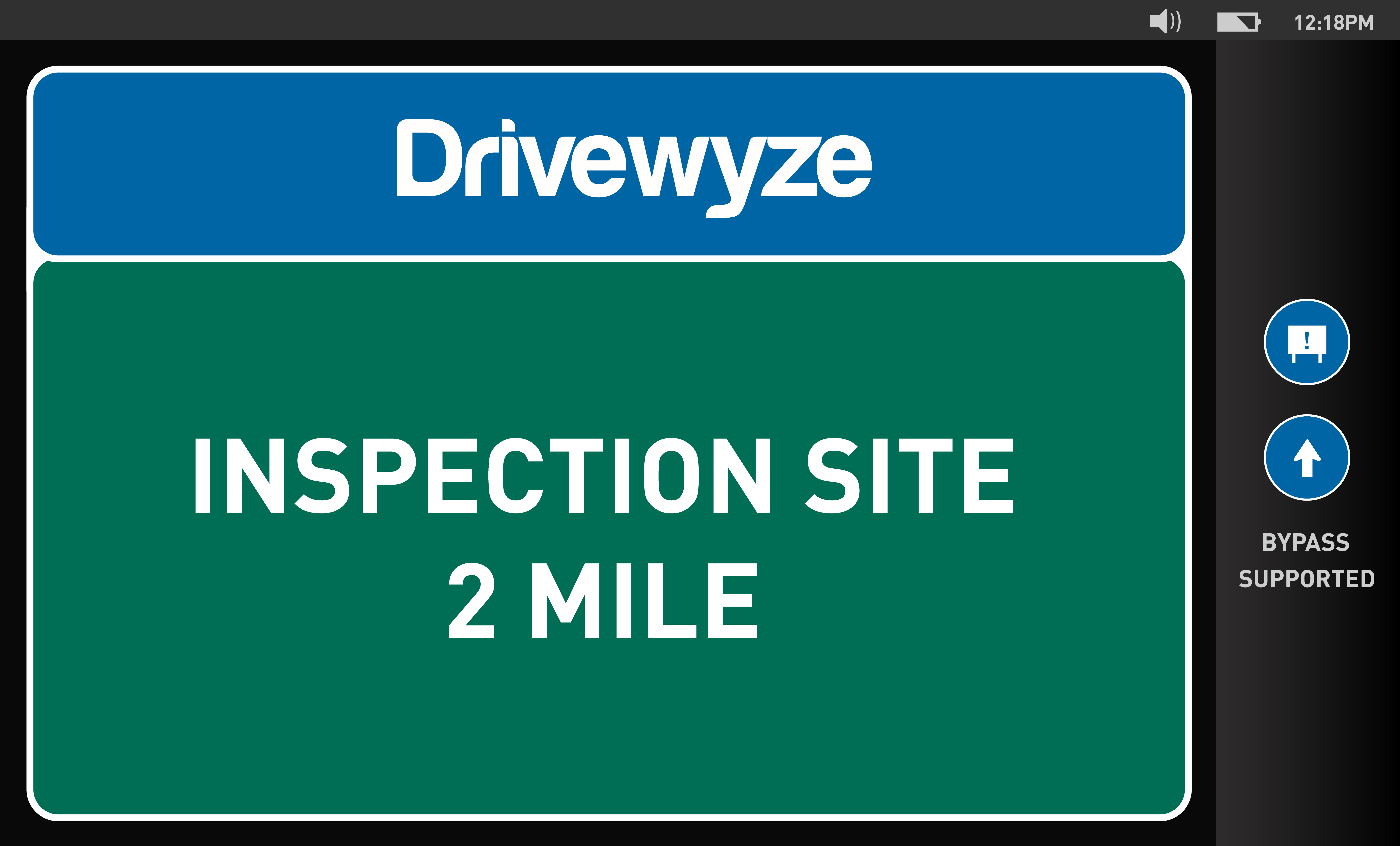 Inspection alert screen